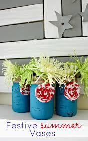 Mason Jar Vases Festive Summer Mason Jar Vases Oh My Creative