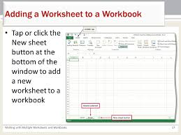 chapter 5 working with multiple worksheets and workbooks microsoft