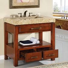 36 In Bathroom Vanity With Top by Silkroad Exclusive Hyp 0217 36 Bathroom Vanity Sink Travertine