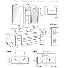 vanity cabinet size chart double vanity sizes standard double vanity dimensions typical
