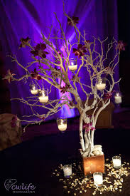 tree centerpieces encore centerpieces silver tree with hanging votives encore creative