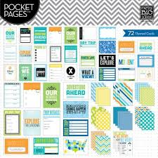 pocket pages me and my big ideas pocket pages themed cards travel