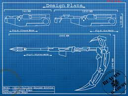rwby crescent rose blueprint rooster teeth