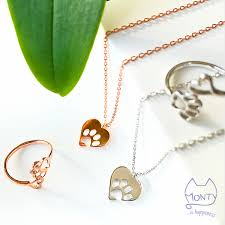 cat necklace images Pawsome love cat necklace silver monty boy png