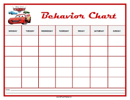 cars behavior chart free printable allfreeprintable