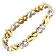 yellow diamond and white diamond white gold and yellow gold link