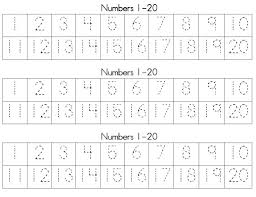 ideas collection preschool number tracing worksheets 1 20 with