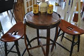 Whiskey Barrel Pub Table Deconstructed Jim Beam Whisky Barrel 3 Piece Pub Table Set Yelp