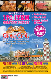 Seafood Buffets In North Myrtle Beach by Giant Crab Seafood Restaurant Myrtle Beach Resorts Coupons For