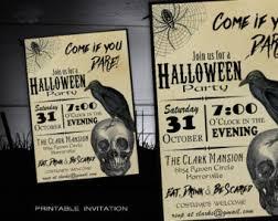 Halloween Costume Party Invitations Halloween Invitation Invitations Printable
