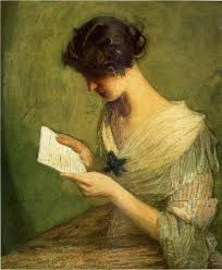 the letter c1910 c1919 julian alden weir american 1852 1919
