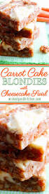 carrot cake blondies with cheesecake swirl wicked good kitchen
