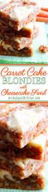 Carrot Cake Blondies With Cheesecake Swirl Wicked Good Kitchen
