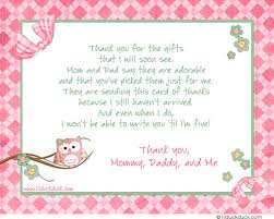 thank you card for baby shower what to write in a baby shower thank you card amazing message what