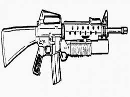 submachine guns coloring pages virtren com