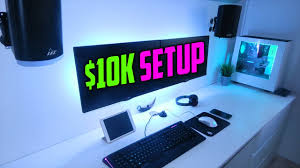 10 000 ultimate gaming setup build 2017 youtube