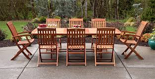 wooden patio table and chairs patio table chairs 7 product chain5d oknws com