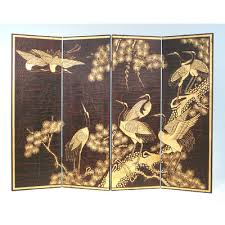 Gold Room Divider by Wayborn Sepia Crane Scene 4 Piece Set In Black Gold U0026 Reviews