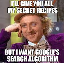 Meme Search Engine - why google shouldn t share its search algorithm first scribe blog