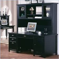 Black Computer Desk With Hutch Office Furniture Executive Laminate L Shape Office Desk With