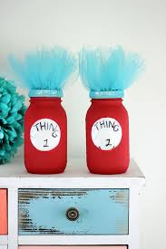 thing one and thing two dr seuss jars diy things fans