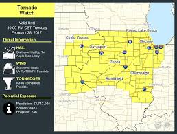 Quad Cities Map Tornado Watch Issued Until 10 P M For Quad Cities Weather