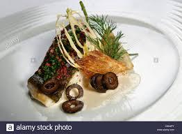 nouveau cuisine nouvelle cuisine gourmet fish dish stock photo 39561283 alamy