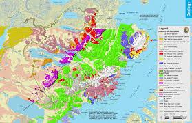 Kodiak Alaska Map by Geologic Formations Katmai National Park U0026 Preserve U S