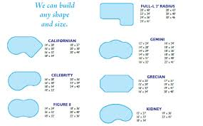 pool shapes and sizes swimming pool shapes and sizes inground swimming pool shape