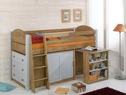 lit bureau armoire combiné lit enfant surélevé bois massif secret de chambre