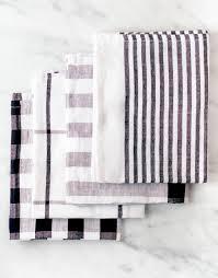 Classic Black And White Kitchen Striped Kitchen Towel Black Fair Trade The Little Market