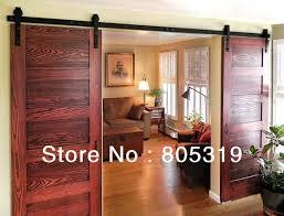 Interior Door Hanging 6ft 8ft 10ft Rustic Black Sliding Barn Door Hardware Modern