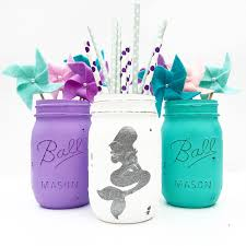 flower centerpieces from littlest mermaid 1st birthday party at