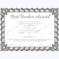 14 besten best teacher award certificate templates bilder auf