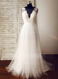 tulle wedding dress a line princess v neck sweep tulle wedding dress 002104625