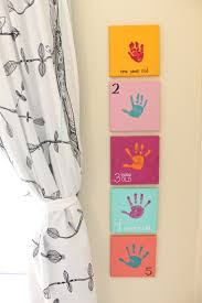 yearly handprint canvas year 5 mama papa bubba