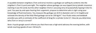 squabble neighbors tom jerry invol chegg