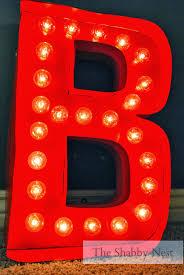 the shabby nest diy light up marquee letter