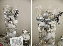 Christmas Centerpieces Diy by Last Minute Diy Christmas Centerpiece Glass Vase White Solver Balls