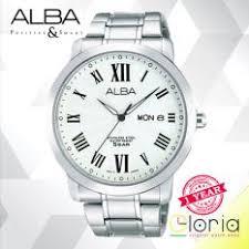 Jam Tangan Alba Emas alba axnd42x1 jam tangan pria tali logam analog quartz emas silver