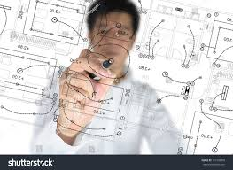 electrical plan hand business man draw architect home stock photo 101398390