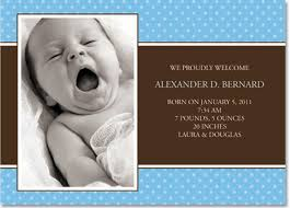 birth announcement wording blue dots baby boy birth announcements by lemon prints