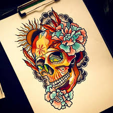 125 best sugar skull tattoo designs u0026 meaning 2018