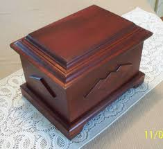 human cremation human or pet cremation urn loved one cherry wood finish