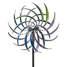 bits and pieces rainbow wind spinner decorative lawn ornament