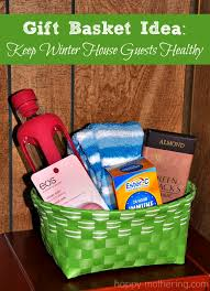 Healthy Gift Baskets Gift Basket Ideas For Winter House Guests Happy Mothering