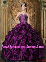 quinceanera dresses 2014 with eggplant purple gown sweetheart picks up taffeta 2014
