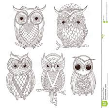 Decorative Owls by Decorative Owl Stock Vector Image 40948014