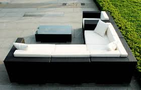 Outdoor Sectional Sofa Outdoor Wicker Sectional Sofa 7 Sectional Manhattan Home