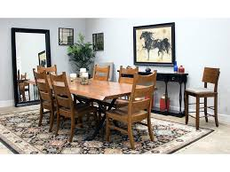 palettes by winesburg solid cherry live edge table and 6 chairs